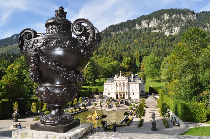 Looking down on Linderhof